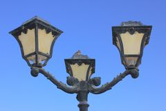 Old vintage metal street lamp Royalty Free Stock Image