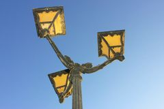 Old vintage metal street lamp Stock Image