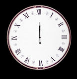 Old vintage midnight clock Stock Images