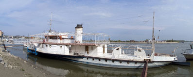 Old vintage military ship Republica in Tulcea Stock Photography