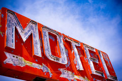 Old Vintage Motel Sign Stock Images