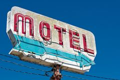 Old, vintage motel sign stock photo