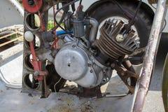 Old vintage motor motorcycle Stock Image