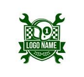 Old vintage motor sport badge emblem vector logo design. Template Stock Photo