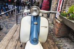 Old vintage motorbike in Camden Market, London, England, United Royalty Free Stock Images