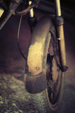 Old vintage motorcycle Stock Photography