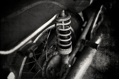 Old vintage motorcycle Stock Images
