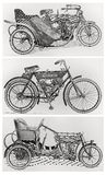 Old vintage motorcycles royalty free stock image
