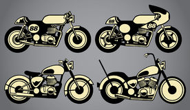 Old vintage motorcycles Stock Photos