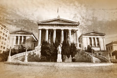 Old vintage National library of Athens Greece Stock Photo