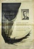 Old Vintage Newspaper add stock images