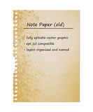 Old Vintage Note Paper Royalty Free Stock Photos