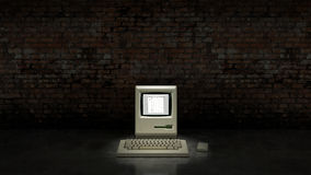 An old vintage obsolete computer. Royalty Free Stock Image