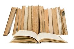 Old Vintage open books Stock Images