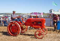 Old vintage orange allis chalmers tractor at show Royalty Free Stock Images