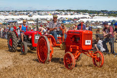 Old vintage orange allis chalmers tractor at show Stock Image