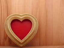 Old vintage ornate picture frame. Background Valentines Day. Royalty Free Stock Photography