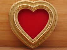 Old vintage ornate picture frame. Background Valentines Day. Royalty Free Stock Photos