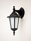 Old vintage outdoor lantern wall hanging lamp Stock Photo