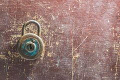 Old vintage padlock Royalty Free Stock Images