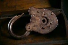 Old vintage padlock royalty free stock photography