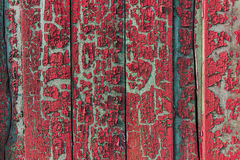 Old vintage painted fence texture. Background texture old painted fence with paint peeling off Stock Image