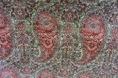Old vintage paisley blanket texture Royalty Free Stock Images