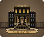 Old vintage palace vector stock illustration
