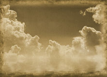 Old vintage paper. With clouds stock illustration