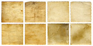 Old vintage paper banners set Stock Photography