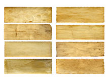 Old vintage paper banners set Royalty Free Stock Images