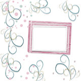 Old vintage paper frame with curls for holiday invitations Royalty Free Stock Images