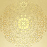 Old  vintage paper with gold round pattern Stock Image