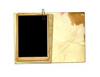 Old vintage paper with grunge frames Royalty Free Stock Image