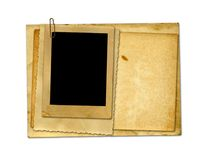 Old vintage paper with grunge frames Stock Photo