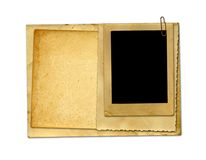 Old vintage paper with grunge frames Royalty Free Stock Photos
