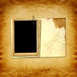 Old vintage paper with grunge frames Stock Photos