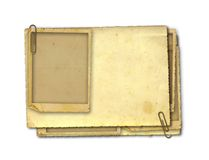 Old vintage paper with grunge frames. For photos stock image