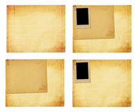 Old vintage paper with grunge frames for photos Royalty Free Stock Image