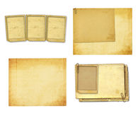 Old vintage paper with grunge frames for photos Stock Images
