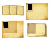 Old vintage paper with grunge frames for photos. Set of old vintage paper with grunge frames for photos Stock Photo