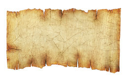 Old vintage paper scroll background. Or texture isolated on white Stock Images