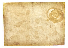 Old vintage paper texture isolated on white. Old vintage paper texture or background isolated on white Stock Photo