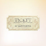 Old vintage paper ticket with number. EPS 8 Stock Photography