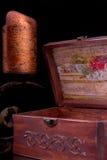 Old vintage patterns chest Stock Image
