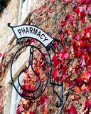 Old vintage Pharmacy sign Stock Images