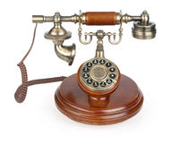 Old vintage phone. Isolated on white background royalty free stock images