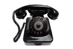 Old vintage phone isolated. On white stock photos