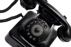 Old vintage phone isolated Stock Images