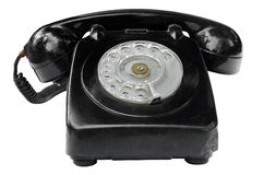 Old vintage phone isolated on white background Royalty Free Stock Images
